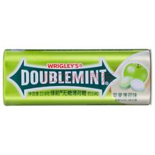 绿箭(DOUBLEMINT)无糖薄荷糖苹果薄荷味35粒23.8g单盒金属装(新旧包装随机发)