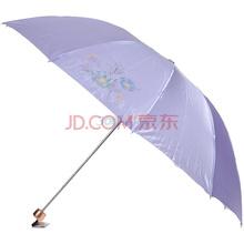 天堂十片色丁防紫外线加大三折钢伞300T浅紫色