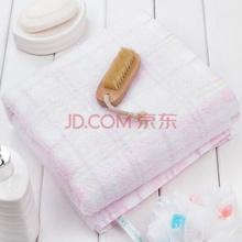 三利 美肌护肤系列 柔软舒适 纯棉大浴巾 浅粉色