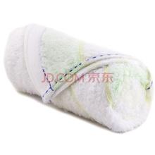 三利 毛巾家纺 美肌护肤系列 简约缎档纯棉毛巾 浅绿色