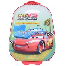迪士尼(Disney)汽车总动员儿童硅胶立体拉杆箱学生行李箱16英寸可爱男女旅行箱TGMB0091D 红色