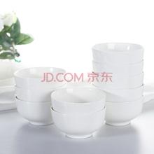 洁雅杰米饭碗 陶瓷(4.5英寸)金钟碗 10只装