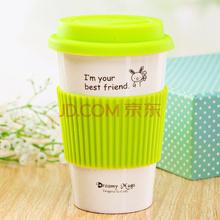 亿嘉IJARL LOTOTO 时尚创意 带盖马克杯 水杯 绿色兔子 FM491008TZM