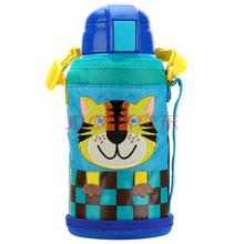 虎牌(Tiger)630ml不锈钢真空保冷保温小老虎儿童壶MML-C06C-CT(吸管款带杯套)