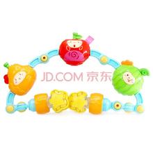 澳贝(AUBY) 益智玩具 多用途车前玩具 婴幼儿童牙胶摇铃车床挂玩具  463486DS