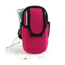 圣迪威 跑步手机臂包女手臂包跑步装备男运动手机臂套手腕包苹果7/6s/三星S6/S5华为中号粉色