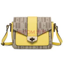 ELLE(她)新款时尚女包PVC斜跨单肩小包TM163O46201YW黄色