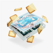 日本进口 白色恋人 北海道 白巧克力夹心饼干12枚 休闲零食 礼盒132g