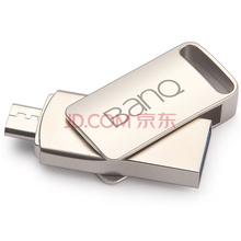 banq T95 OTG手机U盘16G USB3.0 Micro USB双接口高速旋转U盘手机电脑Plus版 珍珠银