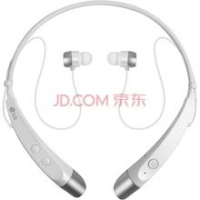 LG HBS-500 无线运动蓝牙耳机高保真立体声音乐耳机 通用型 环颈式 靓丽白