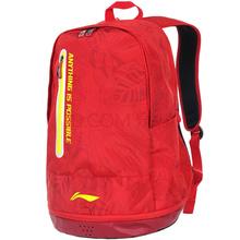 李宁 LI-NING 羽毛球拍包双肩背男女多功能运动背包 ABSL304 红色