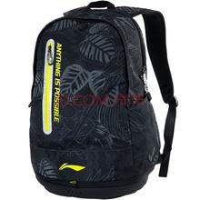李宁 LI-NING 羽毛球拍包双肩背男女多功能运动背包 ABSL304 黑色