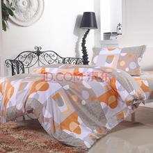 艾薇 床品家纺 学生床单被罩三件套纯棉床品套件1米/1.2米床(清闲雅兴)