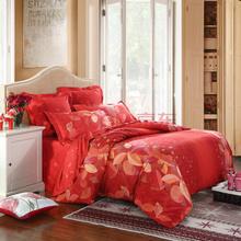 LOVO 罗莱公司出品全棉缎纹印花双人加大1.8米床六件套弗吉尼亚