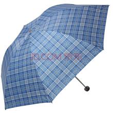 天堂伞 苏格兰风格格子三折钢杆钢骨晴雨伞 深蓝 339S