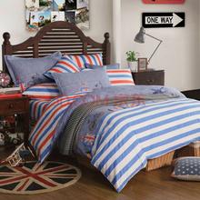 博洋家纺(BEYOND)床品套件双人纯棉斜纹被套床单全棉四件套-纽约征程1.5米床