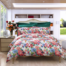 富安娜(FUANNA)家纺床品套件 纯棉斜纹床上四件套 床单被套 倾城之魅双人1.8米床米白