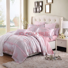 博洋家纺(BEYOND)床品套件 欧式色织提花婚庆床单四件套1.8m床 艾蜜 220*240cm