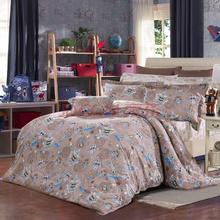 富安娜出品 圣之花 全棉斜纹儿童四件套1.2米床(小号) 时空骑士 咖啡色