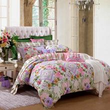 富安娜(FUANNA)家纺磨毛床单四件套温暖纯棉楼亭藏秀双人加大1.8米床黄