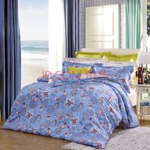 富安娜出品 圣之花 全棉斜纹儿童四件套双人1.5米床(标准) 时空骑士 蓝色
