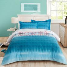 LOVO家纺罗莱出品 贡缎纯棉四件套 全棉纯色床品套件床上用品床单被套 安菲尔德 220*240