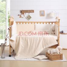 LOVO罗莱家纺出品床品套件 婴儿床组三件套 爱的小摇马 110*130