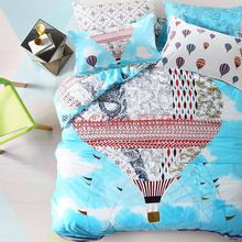皮尔卡丹 pierre cardin 床上用品 高支密全棉床单四件套 热气球 1.5/1.8M床(被套200*230)