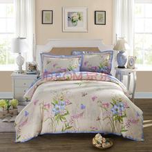 LOVO 罗莱公司出品 全棉缎纹双人加大1.8米床四件套西堤花庭