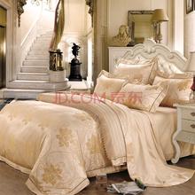水星家纺 法式优雅大提花四件套 佛伦罗萨 加大双人1.8米床