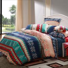 水星家纺 全棉斜纹印花四件套 美国派 加大双人1.8米床