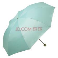 天堂伞 银胶高密聚酯三折超轻晴雨伞太阳伞 橄绿 336T