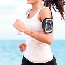 圣迪威 苹果6s跑步手机臂袋运动臂包臂带苹果Plus/6/三星S5/S4/S3手机腕包臂套5英寸中号黑