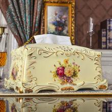 友来福 纸巾盒欧式 陶瓷创意复古象牙瓷家用奢华田园客厅家居摆件