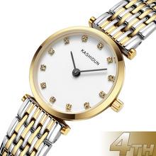卡诗顿正品薄款钢带手表水钻时装表女表石英复古时尚腕表防水手表K-JL888