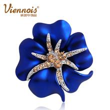 威妮华欧美饰品 优雅时尚海星夜 胸针女精致 韩国夸张花朵结婚