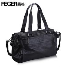 斐格男包单肩包韩版休闲手提电脑包横款时尚斜挎背包潮流男士包包08350
