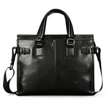 FEGER斐格男士手提包横款商务韩版潮公文包时尚电脑包单肩斜跨包男士背包包8855-3