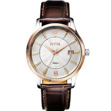 飞亚达(FIYTA)手表 卓雅系列石英情侣表男表白盘皮带G242.TWR