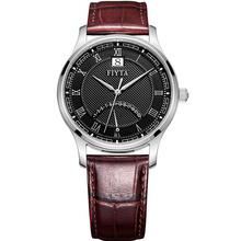 飞亚达(FIYTA) 手表 卓雅系列 男士皮带石英腕表 黑盘棕带男表G1270.WBR