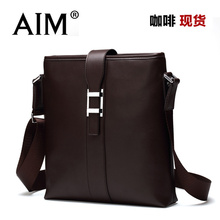 AIM男士单肩包精品斜挎男包商务休闲包牛皮包韩版皮包潮牌包包