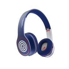 森麦 漫威BT670蓝牙无线触控头戴式重低音跑步运动手机耳机耳麦  美国队长-蓝色