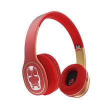 森麦 漫威BT670蓝牙无线触控头戴式重低音跑步运动手机耳机耳麦   钢铁侠-红色