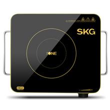 SKG 1649家用多功能无辐射电陶炉茶炉静音双核不挑锅黑晶面板